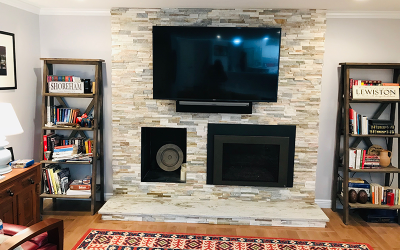 Brick Entertainment Wall