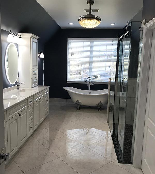 Large Master Bathroom Project in Waterford, Virginia