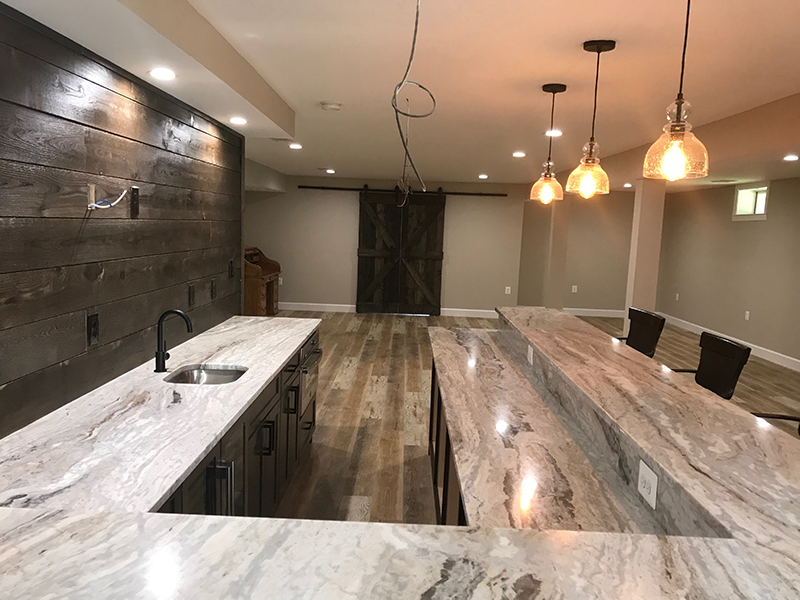 Beautiful Basement Renovation with Wet Bar